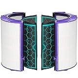 iAmoy Ersatz HEPA Filter Kompatibel mit Dyson HP04 TP04 DP04 Pure Cool Luftreiniger Lüfter & Innerer Aktivkohlefilter